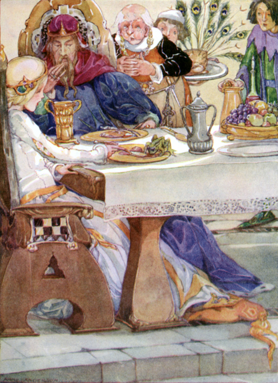 Anne Anderson - The frog sat at table with the princess