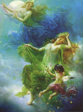 Night Fairies Hans Zatzka