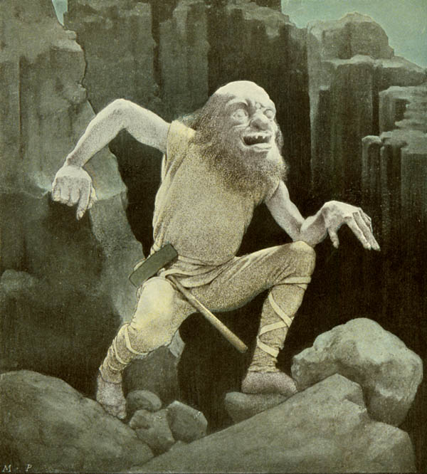Maxfield Parrish: Alberich from The Ring of the Nibelung